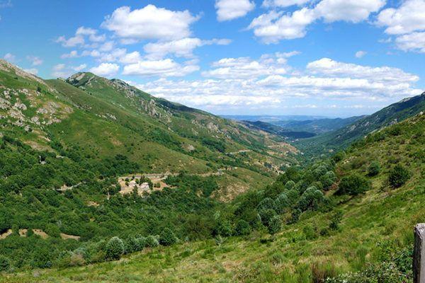 Ardèche landschap