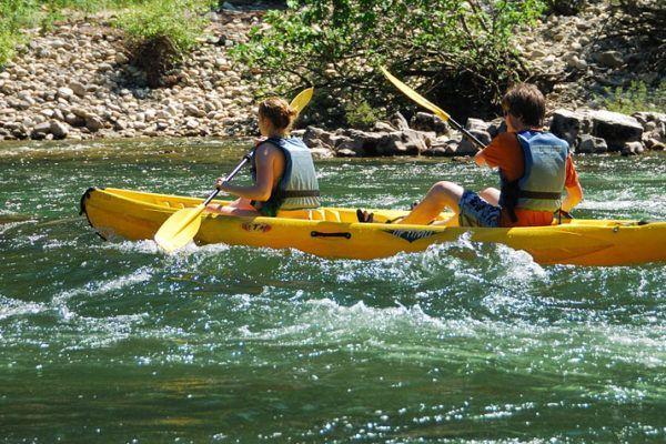 Canoe on the Ardèche
