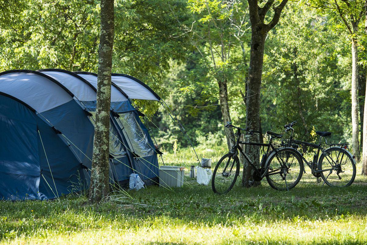 Staanplaatsen op de camping