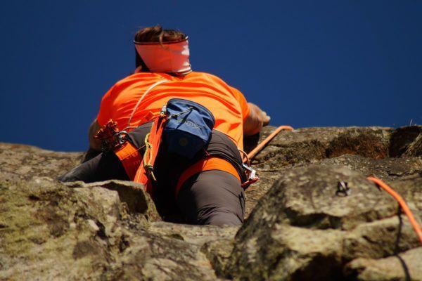 Climbing in Ardèche