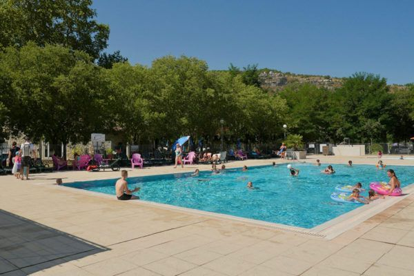 The swimming pool of the campsite